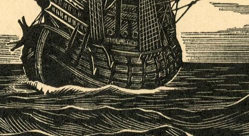przedstawiający Angielski okręt wojenny z 1520 r.