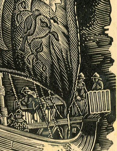 przedstawiający statek wg stempla hrabiego Edwarda von Rthland