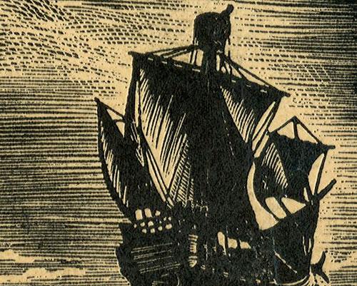 przedstawiający statki Karola Burgundzkiego z 1540 roku.