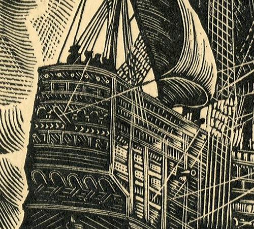 przedstawiający angielski okręt wojenny z 1520 roku.