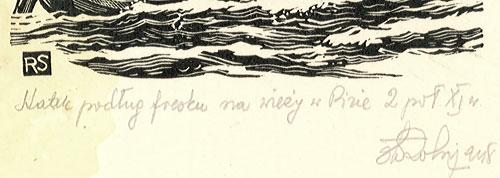 przedstawiający statek podług fresku na wieży w Pizie 2 poł XI w.