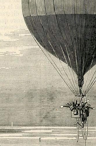 przedstawiająca słynny lot balonem Zenit nad Oceanem