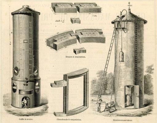 Francuska grafika w technice drzeworytu sztorcowego wykonana w latach 1870-1880-tych