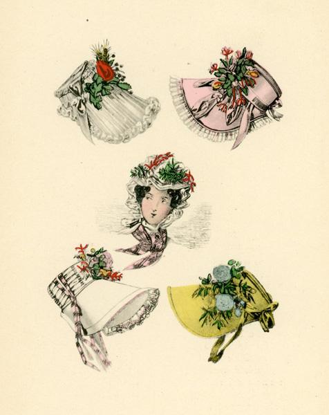 Niemiecka grafika przedstawiająca stroje modne w roku 1826. Grafika pochodzi z końca XIX wieku. Wykonana jest w technice mieszanej