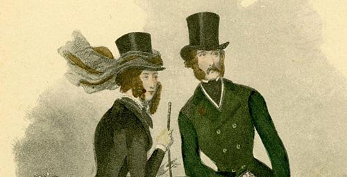 podmalowywana akwarelą. Według: Paul Gavarni (1804-1866).