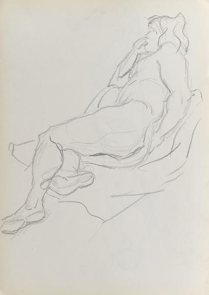 Grafika w technice mieszanej przedstawiająca jeżdżących na łyżwach. Grafika została wykonana w latach 20-tych XX wieku i stanowiła ilustracje do niemieckiego czasopisma o sztuce.