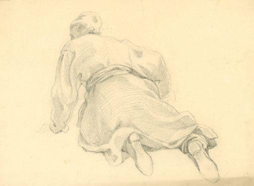 Grafika wykonana ołówkiem na papierze to szkic postaci wg Jana Matejki. Rysunek został wykonany ok. 1910-1930 r.