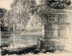 Grafika przedstawiająca Park w Wilanowie