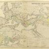 Oryginalna grafika w technice litografii przedstawiająca mapę starożytnego imperium Rzymskiego (Imperium Romanum). Rycinę wykonał w Berlinie pod koniec XIX w. J. SULZER.