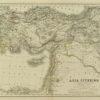 Oryginalna grafika w technice litografii przedstawiająca mapę starożytnej Azji (Asia Citerior). Rycinę wykonał w Berlinie pod koniec XIX w. J. SULZER.