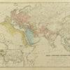 Oryginalna grafika w technice litografii przedstawiająca mapę antycznego świata. Rycinę wykonał w Berlinie pod koniec XIX w. J. SULZER.