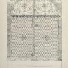 Grafika w technice fotolitografii z 1894 roku przedstawiająca XVIII-wieczną kratę kaplicy dominikańskiej w Kościanie.