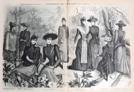 """Oryginalna grafika w technice drzeworytu sztorcowego wykonana w 1855 roku jako ilustracja do francuskiego czasopisma """"La mode illustrée""""."""