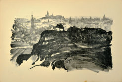 Oryginalna grafika wykonana w technice litografii w 1926 roku i wydana przez Muzeum Narodowe w Krakowie. Grafikę przedstawiającą widok ogólny Krakowa wykonał JAN KANTY GUMOWSKI w 1926 roku.