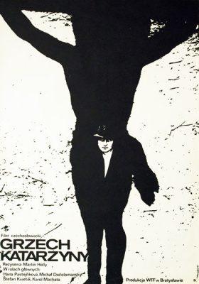 """Plakat do filmu czechosłowackiego z 1973 r. """"Grzech Katarzyny"""""""