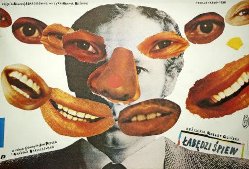 Plakat filmowy autorstwa Lecha Majewskiego do polskiego filmu z 1988 roku w reżyserii Roberta Glińskiego.