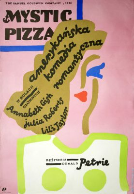 "Polish school of poster, Vintage movie poster PRL ""Mystic Pizza"", Jan Młodożeniec, 1988"