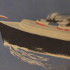 organizowane przez Ligę Morską. Projekt plakatu ze statkiem płynącym wzdłuż wybrzeży Bałtyku