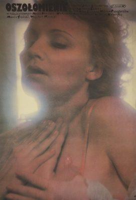 """Polski plakat do filmu """"Oszołomienie"""" z 1988 roku w reżyserii Jerzego Sztwiertni"""