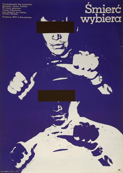 """Plakat filmowy do filmu czechosłowackiego """"Śmierć wybiera"""". Reżyseria: Otto Holub . Projekt plakatu: Mieczysław Wasilewski"""