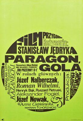 Polski plakat filmowy do filmu przygodowego dla młodzieży Paragon