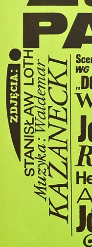 gola!. Typograficzny projekt plakatu: MACIEJ ŻBIKOWSKI