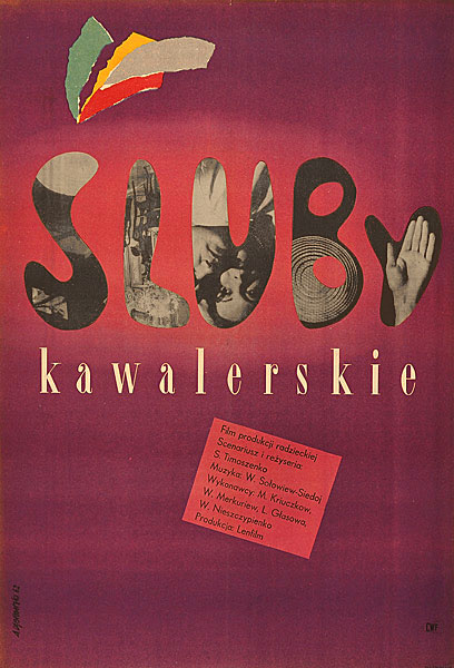 Oryginalny polski plakat filmowy z 1962 roku