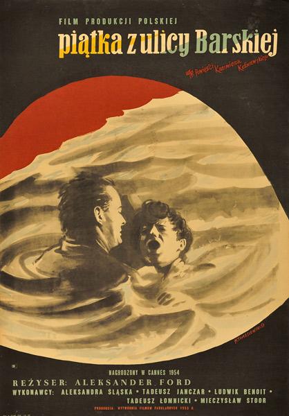 Oryginalny polski plakat filmowy z 1954 roku