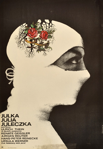 Polski plakat do filmu produkcji NRD Julka