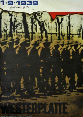 Plakat informujący o bohaterskiej obronie Westerplatte we Wrześniu 1939 r. Projekt plakatu: Sławomir Lewczuk