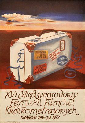 Plakat reklamujący XIX Międzynarodowy Festiwal Filmów Krótkometrażowych