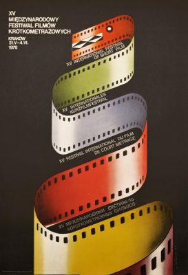 Plakat reklamujący XV Międzynarodowy Festiwal Filmów Krótkometrażowych