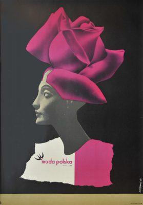 Oryginalny polski plakat reklamowy firmy Moda Polska. Projekt: ROMAN CIEŚLEWICZ