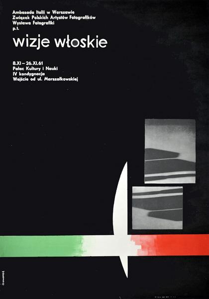 Oryginalny polski plakat wystawowy . Projekt: JERZY SROKOWSKI