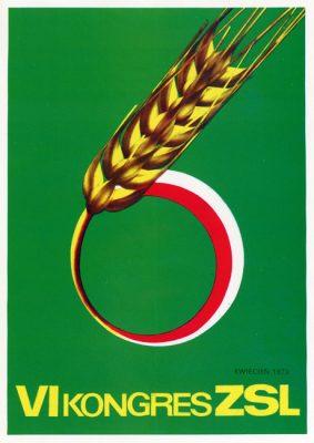 "Miniatura plakatu propagandowego ""VI Kongres ZSL"