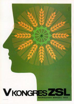 "Miniatura plakatu propagandowego ""V Kongres ZSL"