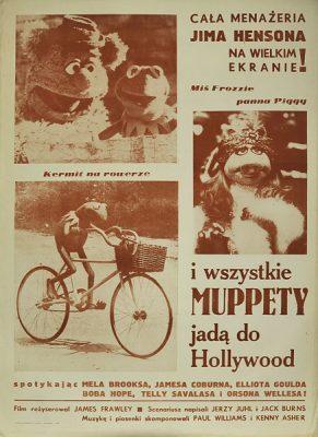 """Plakat filmowy z 1984 r. do amerykańskiego filmu """"Muppets"""". Reżyseria: Jim Henson."""