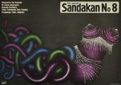 """Plakat filmowy do japońskiego filmu """"Sandakan No 8"""". Reżyseria: Kei Kumaia. Projekt plakatu: ROMUALD SOCHA"""