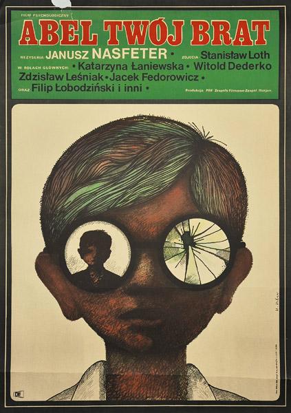 """Plakat filmowy do polskiego filmu """"Abel"""