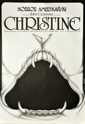"""Plakat filmowy do amerykańskiego horroru """"Christine"""". Reżyseria: John Carpenter. Projekt plakatu: Jakub Erol"""