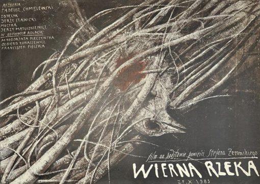 """Plakat filmowy do filmu """"Wierna rzeka"""" z 1983 roku"""