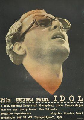 "Plakat filmowy do filmu ""Idol"". Reżyseria: Feliks Falk. Projekt plakatu: 1984."