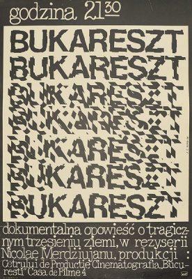"""Plakat filmowy do filmu węgierskiego """"Bukareszt"""