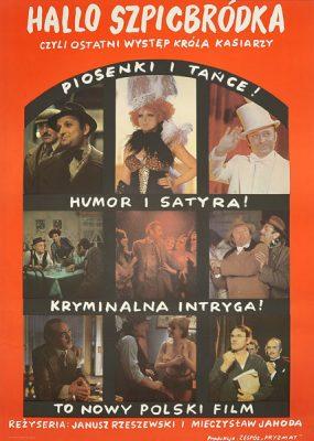 """Oryginalny polski plakat filmowy do polskiego filmu """"Halo Szpicbródka"""