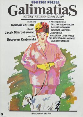 """Plakat filmowy do polskiej komedii """"Galimatias"""