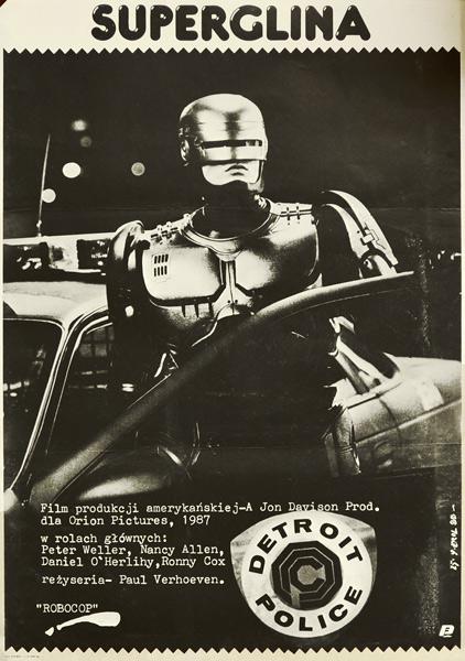 """Plakat filmowy do amerykańskiego filmu """"Superglina"""". Reżyseria: Paul Verhoeven. Projekt plakatu: JAKUB EROL"""
