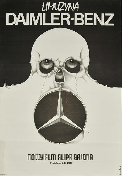 """Plakat filmowy do polskiego filmu """"Limuzyna Daimler-Benz"""". Reżyseria: Filip Bajon. Projekt plakatu: JAKUB EROL"""