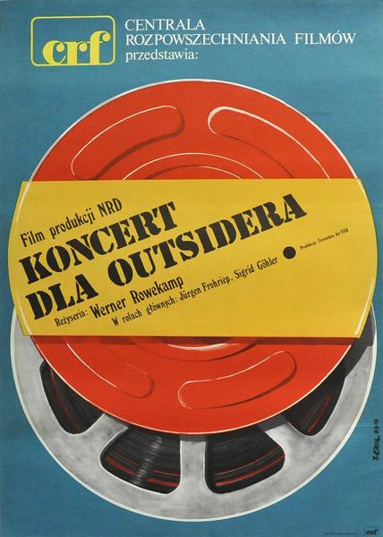 """Plakat filmowy do niemieckiego filmu """"Koncert dla outsidera"""". Reżyseria: Werner Rowekamp. Projekt plakatu: JAKUB EROL"""