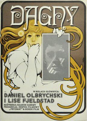 """Plakat filmowy do filmu polsko-fińskiego """"Dagny"""". Reżyseria Haakon Sandoy. Projekt plakatu: JAKUB EROL"""