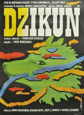 """Plakat filmowy do polskiego filmu """"Dzikun"""". Reżyseria: Andrzej Barszczyński. Projekt plakatu: JAKUB EROL"""